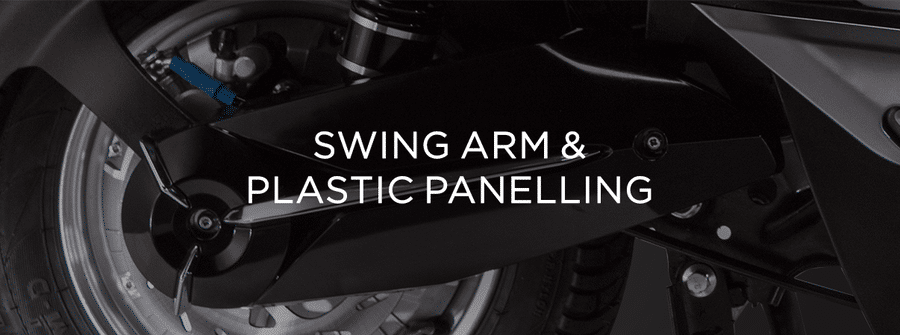 Electric scooters swing-arm-&-plastic-panelling