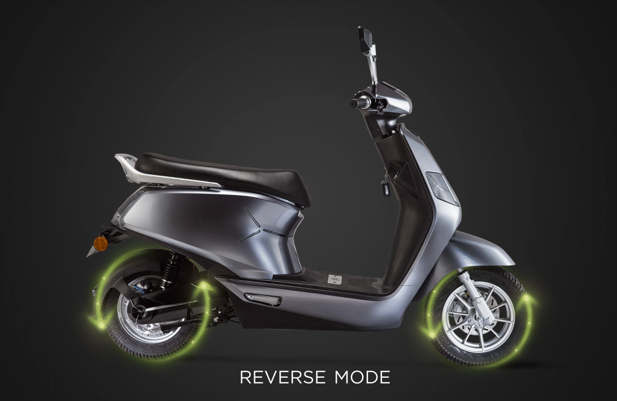 B8 electric scooter reverse